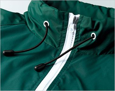 ナイロン スタンドジャケット(フードイン)(ライニング付)(男女兼用) 衿部分