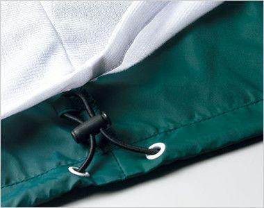 ナイロン スタンドジャケット(フードイン)(ライニング付)(男女兼用) コードストッパー(裾ふらし)