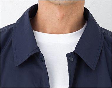 ナイロン コーチジャケット(裏地付き)(男女兼用) 衿部分
