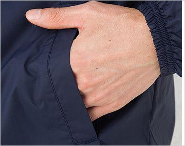 ナイロン コーチジャケット(裏地付き)(男女兼用) ポケット付き