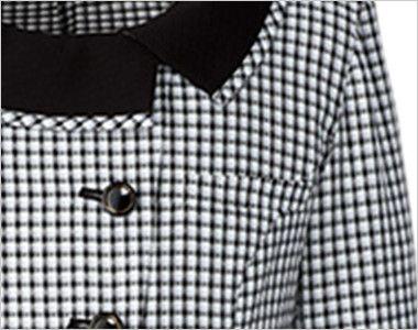 AR1568 アルファピア [春夏用]ライトジャケット スラブ・グラデーションチェック 名札ホール付き左胸ポケット