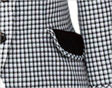 AR1568 アルファピア [春夏用]ライトジャケット スラブ・グラデーションチェック 女性らしい印象のフラップ付き両脇ポケット