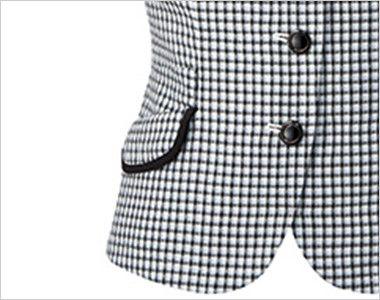 アルファピア AR1668 [春夏用]チェック柄・オーバーブラウス [高通気] スマホルダー付き右側ポケット