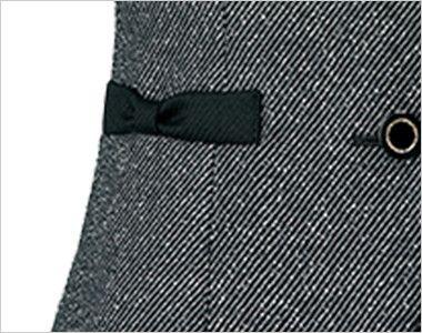 AR2451 アルファピア [秋冬用]ベスト ツイード リボン風ポケット