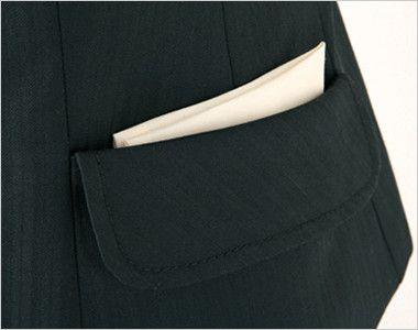 AR2814 アルファピア [通年]ベスト シャドーストライプ 飾りフラップ付きポケット
