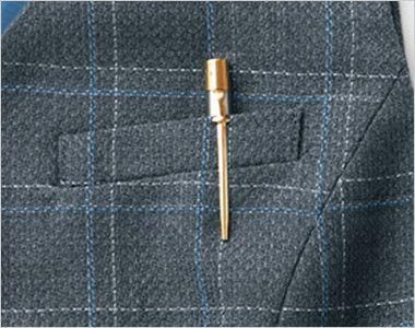 AR2823 アルファピア [通年]ベスト チェック ポケット