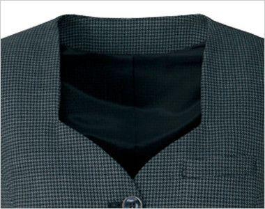 AR2831 アルファピア [秋冬用]ベスト エコ・ライラックドビー チェック 清楚な印象のダイヤモンドネックライン