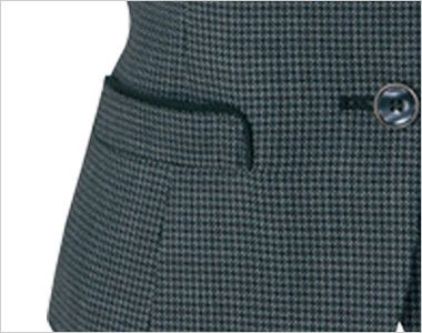 AR2831 アルファピア [秋冬用]ベスト エコ・ライラックドビー チェック ポケット