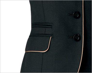AR2840 アルファピア [秋冬用]4つボタン・ベスト ミニヘリンボーン スマホルダー付ポケット