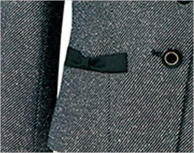 AR4453 アルファピア [秋冬用]ジャケット ツイード リボン風ポケット