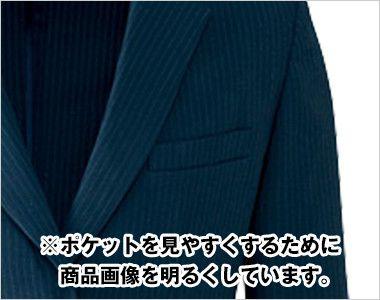 AR4668 アルファピア [秋冬用]ジャケット ストライプ ポケット
