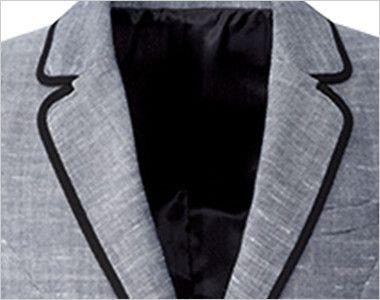 [在庫限り/返品交換不可]AR4677 アルファピア [春夏用]ジャケット リセアスラブツイード(防汚) シャープに引き締めるパイピングを施した襟元