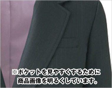 AR4814 アルファピア [秋冬用]ジャケット ダブルフェイス シャドーストライプ ポケット
