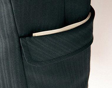 AR4814 アルファピア [秋冬用]ジャケット ダブルフェイス シャドーストライプ フラップ付きポケット
