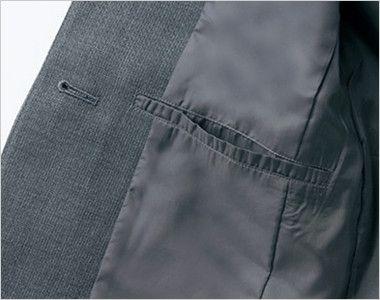 アルファピア AR4823 [通年]美シルエットのテーラードジャケット [無地] ポケット