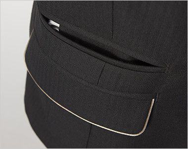 AR4840 アルファピア [秋冬用]ジャケット カラーパイピング ミニヘリンボーン ポケット
