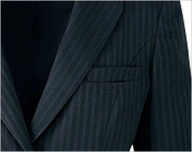 AR4847 アルファピア [通年]ジャケット ストライプ[防シワ商品] 名札ホール付きポケット