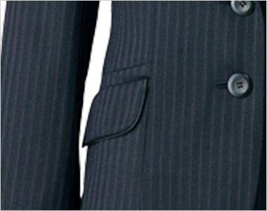 AR4847 アルファピア [通年]ジャケット ストライプ[防シワ商品] ポケット