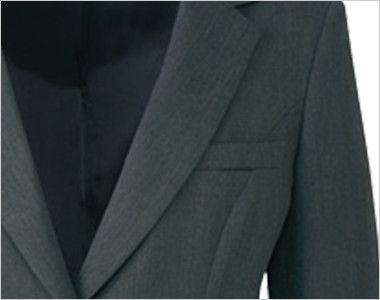 AR4849 アルファピア [通年]ジャケット 無地 名札ホール付きポケット