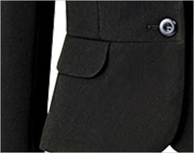 [在庫限り/返品交換不可]AR4856 アルファピア ショートジャケット スタイリッシュ・ファインニット 無地 ポケット