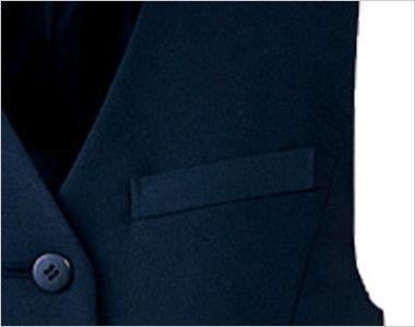 アルファピア UF2500R [秋冬用]シンプル&ベーシックベスト [無地] 左胸ポケット