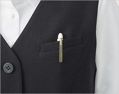 アルファピア UF2507 [秋冬用]ベスト 3つボタン [無地] ポケット付き