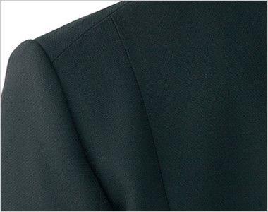 アルファピア UF4510 [秋冬用]ベーシック・ジャケット[無地] 両サイドをバイヤス使いしてストレッチ性を向上
