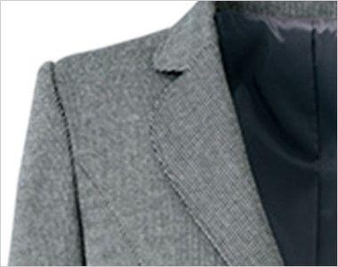 [在庫限り/返品交換不可]YT4304 ユキトリイ ジャケット スイングドット 丸みのあるテーラードカラー