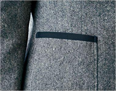 ユキトリイ YT4910 [通年]リッチなツイード素材のエレガンス・ジャケット ポケット