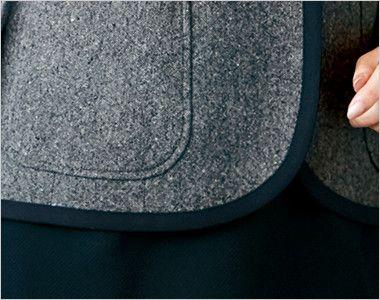 ユキトリイ YT4910 [通年]リッチなツイード素材のエレガンス・ジャケット 丸みを帯びた女性らしい印象のテーラードジャケット