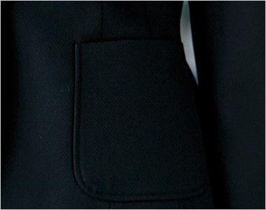 ユキトリイ YT4911 [通年]漆黒のツイード素材がクールな印象のジャケット ポケット