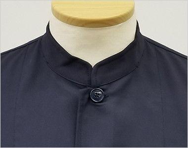7756 チトセ(アルベ) シングルコックシャツ/五分袖(男女兼用) スマートなスタンドカラーのシングルタイプ