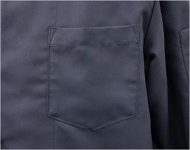 7756 チトセ(アルベ) シングルコックシャツ/五分袖(男女兼用) ポケット付き