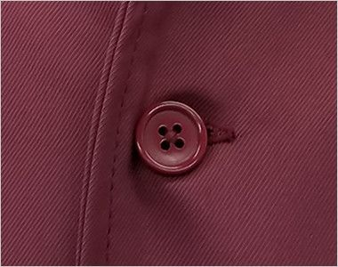 7757 チトセ(アルベ) コックシャツ/五分袖(男女兼用) ボタン部分