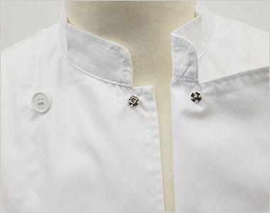 AS-6021 チトセ(アルベ) ダブル コックシャツ/七分袖(男女兼用)  スナップボタン