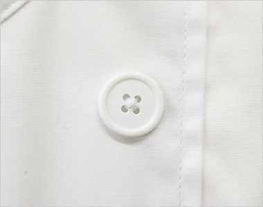 AS-6021 チトセ(アルベ) ダブル コックシャツ/七分袖(男女兼用) ボタン部分