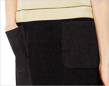 CL-0202 キャララ(Calala) [通年]ワンピース(女性用) 上下ツートン ポケット付き