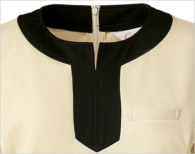 CL-0203 キャララ(Calala) チュニック 裾ブラック(女性用) インパクトのあるバイカラーデザイン