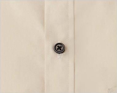 EP-6840 チトセ(アルベ) ブロードシャツ/半袖(男女兼用)スタンドカラー シンプルな黒