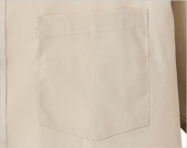 EP-6840 チトセ(アルベ) ブロードシャツ/半袖(男女兼用)スタンドカラー ポケット付き