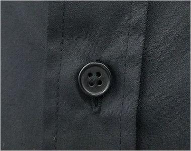 EP-7616 チトセ(アルベ) ボタンダウンシャツ/長袖(男女兼用) スタイリッシュな黒ボタンを使用