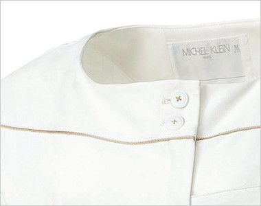 MK-0001 ミッシェルクラン(MICHEL KLEIN) ワンピース(女性用) 2つボタンに、パイピングのラインがおしゃれです。