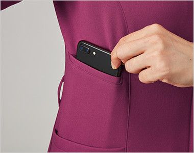 MK-0002 ミッシェルクラン(MICHEL KLEIN) ファスナースクラブ(女性用) 下には大きめのスマホも入るポケット付き