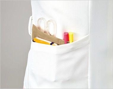 MK-0004 ミッシェルクラン(MICHEL KLEIN) ジャケット(女性用) はさみ、ペン差し、メモ帳などが分類して収納できるマルチポケット