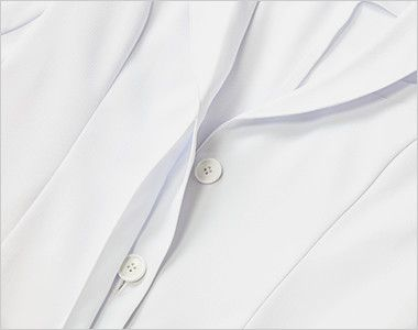 MK-0012 ミッシェルクラン(MICHEL KLEIN) ドクターコート(女性用) ボタンが見えない作りの比翼ボタン