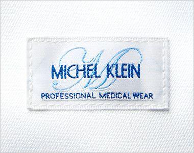 MK-0013 ミッシェルクラン(MICHEL KLEIN) ドクターコート(男性用) ミッシェルクランのロゴが刺繍でついてます。