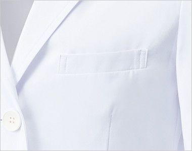 MZ-0023 ミズノ(mizuno) レディースドクターコート・シングル(女性用) ポケット