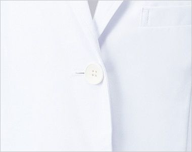 MZ-0023 ミズノ(mizuno) レディースドクターコート・シングル(女性用) シングルの前立て、ボタン