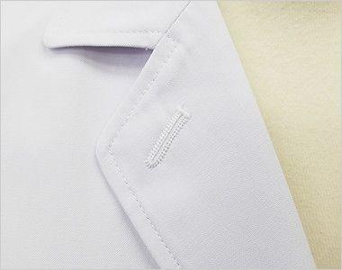 MZ-0024 ミズノ(mizuno) 七分袖ドクターコート・シングル(女性用) フラワーホールの飾り刺繍