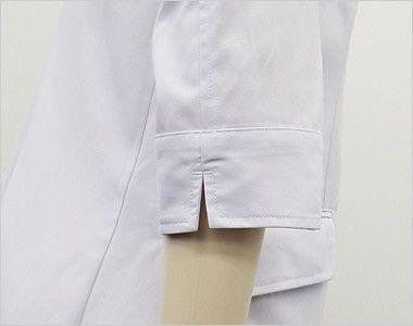 MZ-0024 ミズノ(mizuno) 七分袖ドクターコート・シングル(女性用) スリット